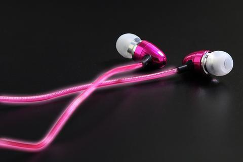 sterdio.com Pink Dynamic Earphones-Flash with beats