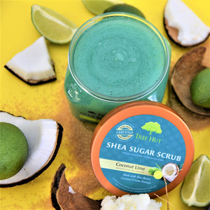 Exfoliante corporal Tree Hut Shea Sugar Scrub Coconut Lime 510g.