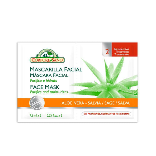 CS Mascarilla Facial Aloe Vera-Salvia  (7.5ml x 2)