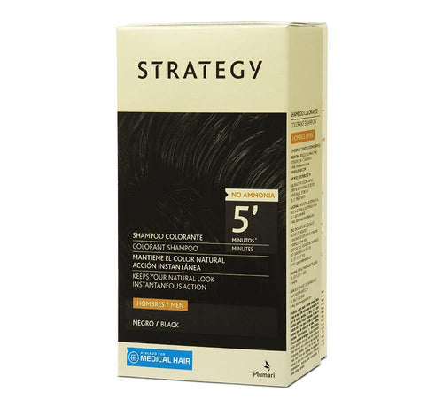 STRATEGY Shampoo Color Negro Efecto Inmediato