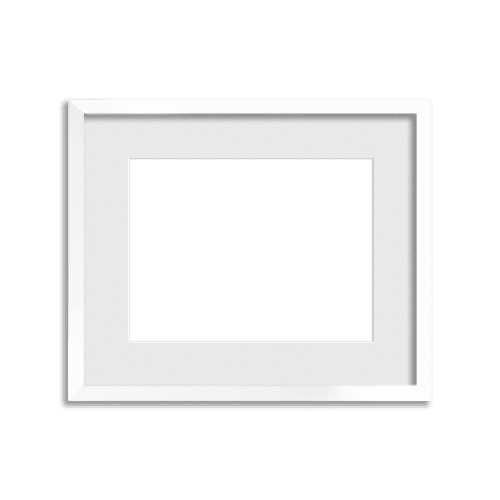 Lacquer Frame // Dazzling White