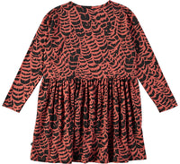 Carly graphic feather dress-DRESS-MOLO-92/98 - 2/3 yrs-jellyfishkids.com.cy