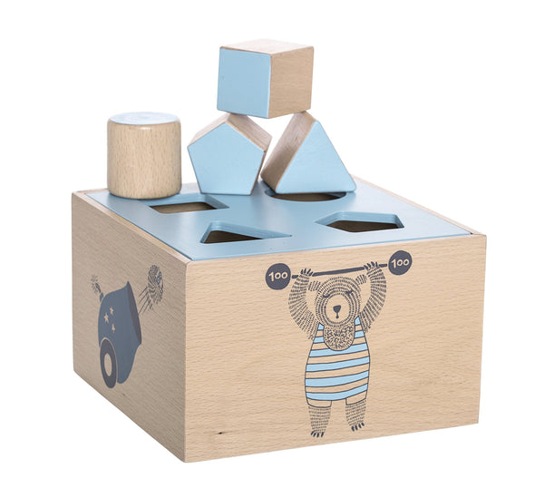 Circus Intelligence Box, Blue, Beech-Wooden Toys-Bloomingville-jellyfishkids.com.cy