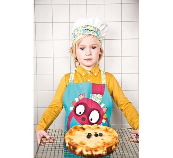 LITTLE CHEF. Georges cookie apron and hat-Apron-Lilliputiens-jellyfishkids.com.cy