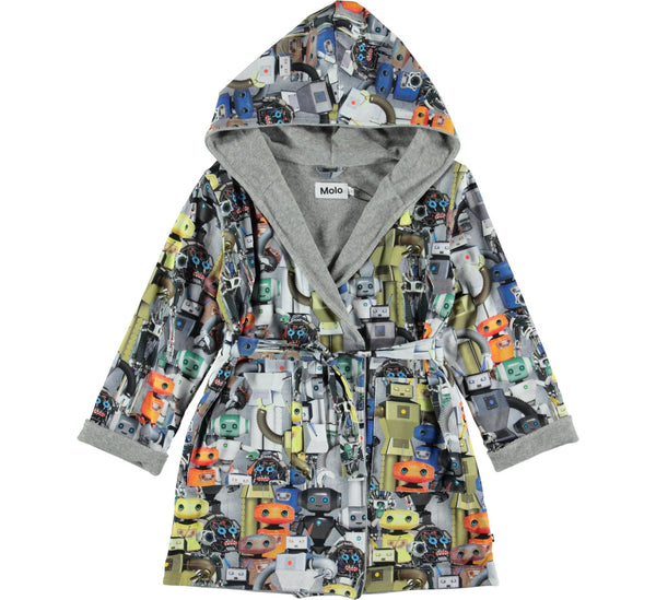 Way - Bathrobe Robots-bathrobe-Molo-122/128 - 7/8 yrs-jellyfishkids.com.cy