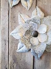Galvanized Floral Wall Accent