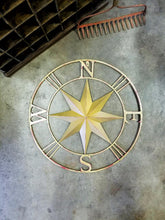 Small Star Metal Compass - 27 1/2""