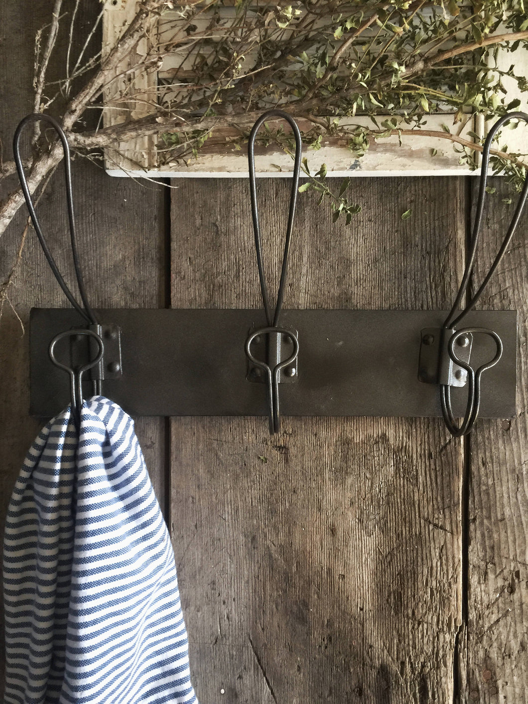 Squared Metal Coat Rack - 3 Hook