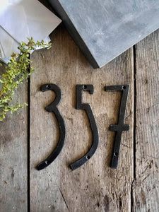 Modern Iron House Numbers