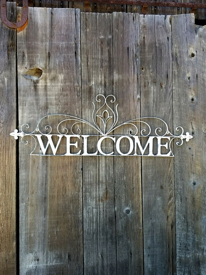 Metal Welcome Sign