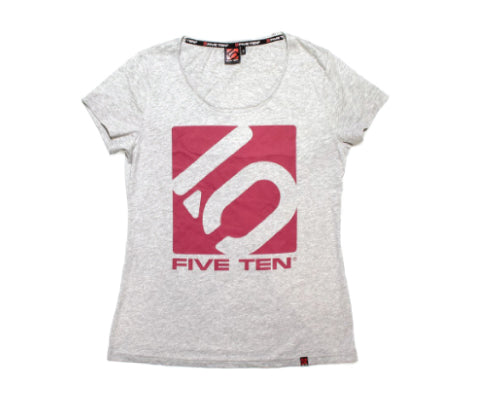 FIVE TEN Logo Tee W - Heather Grey/Craft Pink - Frontier Equipment Pty Ltd