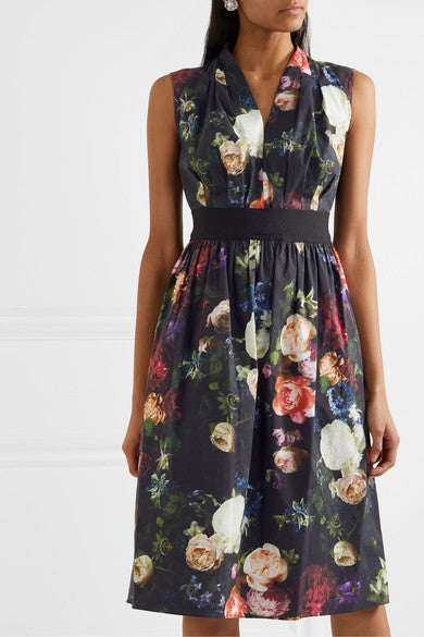 ADAM LIPPES - Printed Poplin Dress