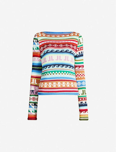 LANVIN - Fair Isle-Pattern Slim-Fit Wool-Blend Jumper