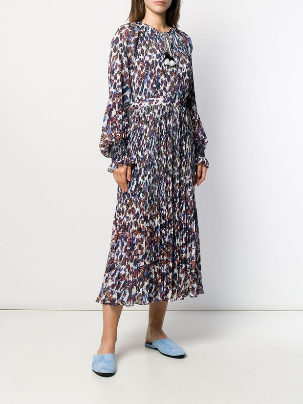 Nemea Pleated Floral Maxi Dress
