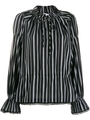 Calypso Diamond Striped Blouse