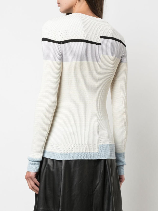 STRIPED RIB KNIT
