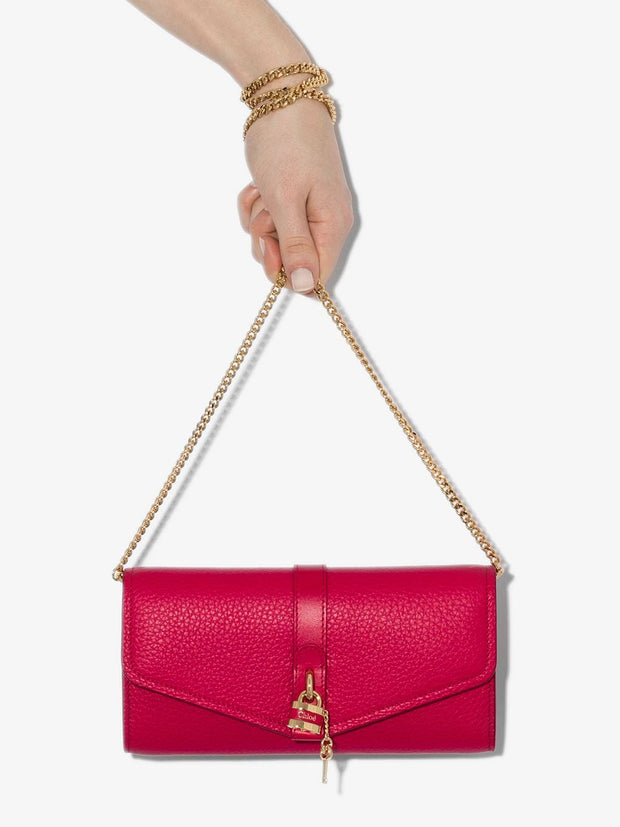 Aby Chain Wallet Crimson Pink