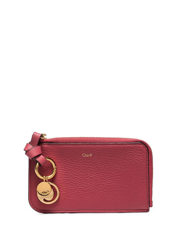 CHLOÉ - Alphabet Card Holder Scarlet Pink
