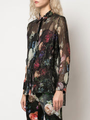 Lurex Floral Shirt