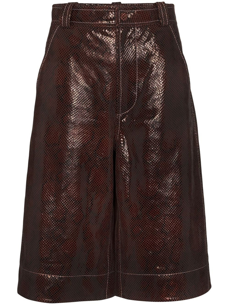 GANNI - Snake Foil Leather Pant