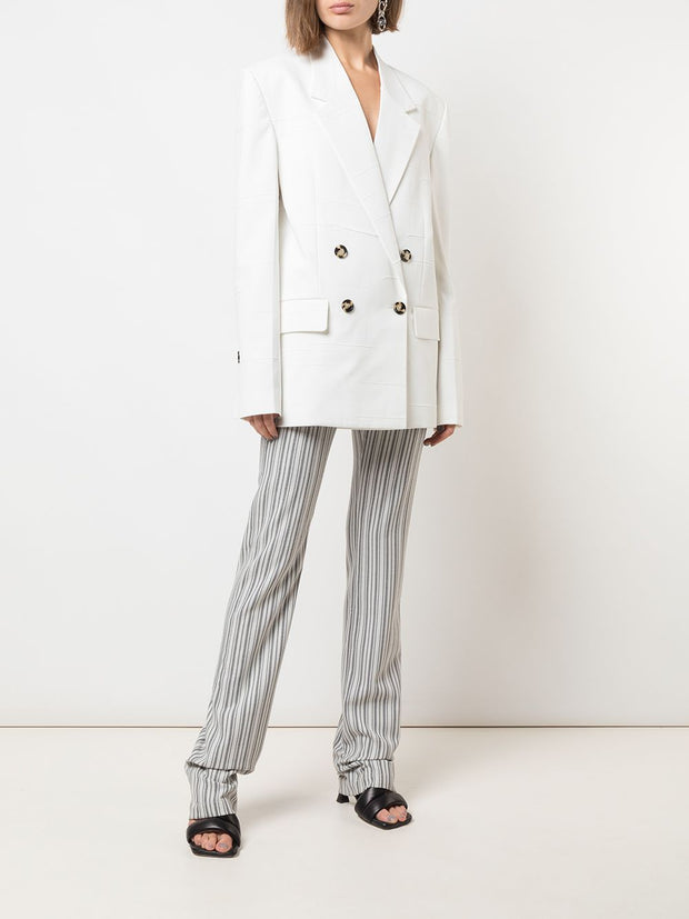White Tech Suiting Blazer