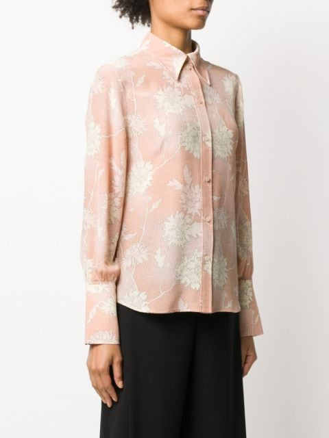 Scale Print Long Sleeve Shirt