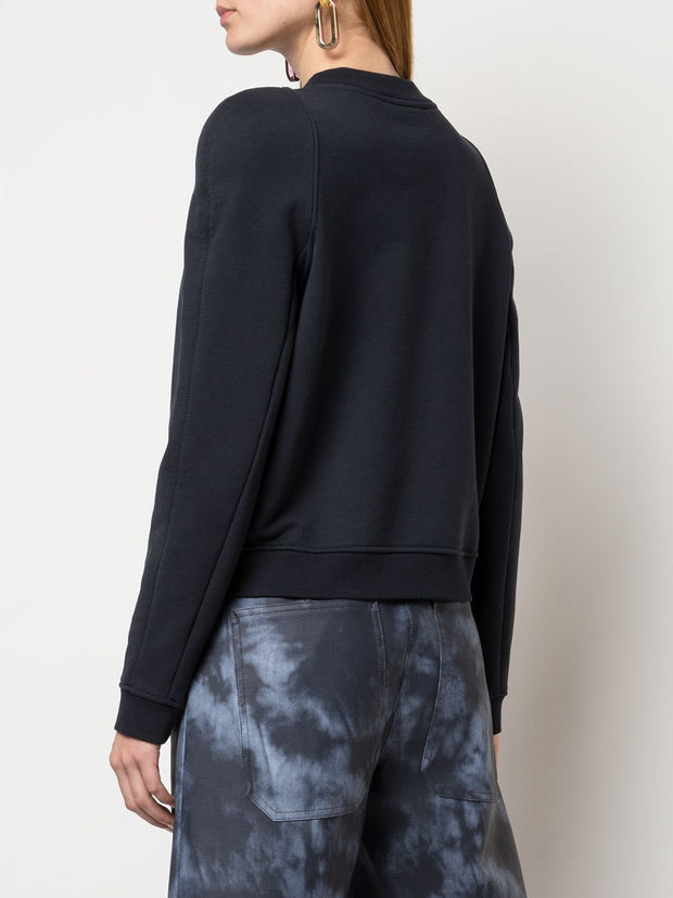 TIBI - Sculpted Shoulder Sweatshirt