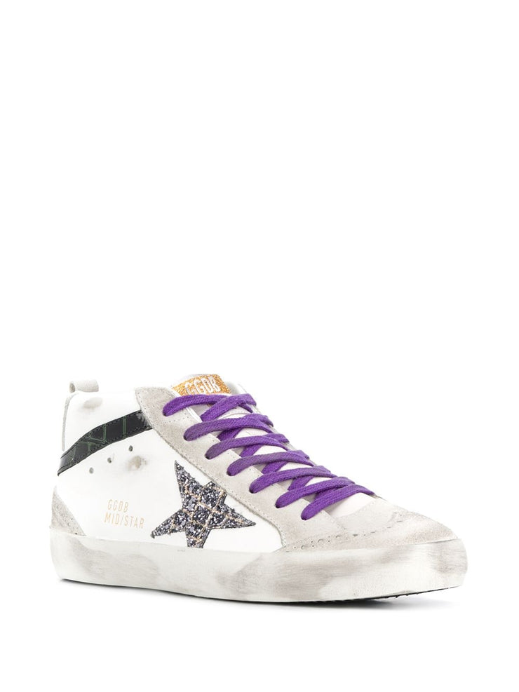 GOLDEN GOOSE - Mid Star White Purple Lace