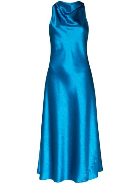 Andy Glossy Satin Dress
