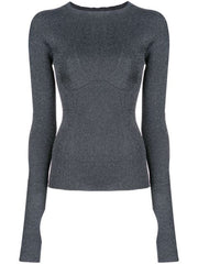 BUST DETAIL LUREX KNIT