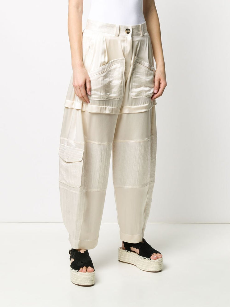 LANVIN - Silk Panel Wide Leg Pant