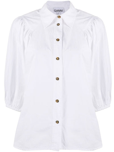 White Poplin Blouse