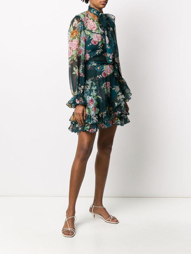 ZIMMERMANN - Wavelength Scallop Frill Mini Dress