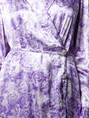Violet Tulip Satin Dress