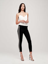 L'AGENCE - Margot Sequin Stripe Black Jean