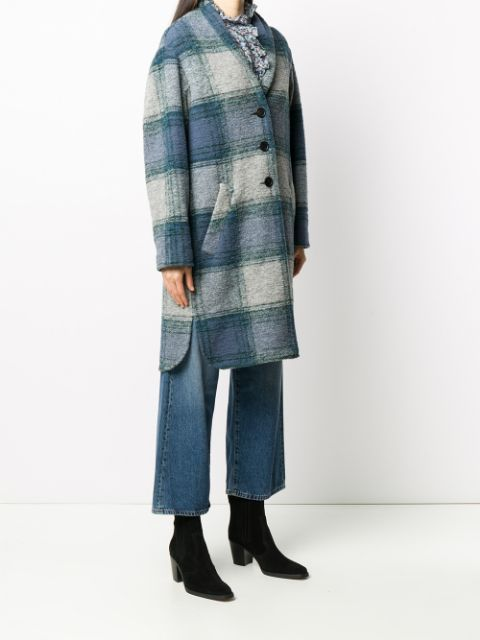 GABRIEL Plaid Button Up Coat