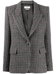 KERSTIN Fitted Plaid Blazer
