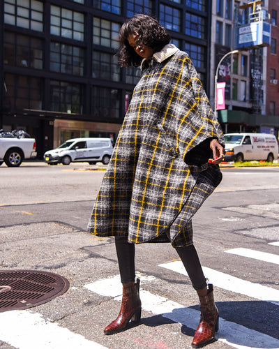 ISABEL MARANT - Gabin Plaid Cape