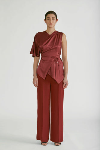 YIGAL AZROUEL - High Waisted Wide Leg Pant