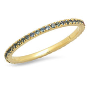 ERINESS - BLUE SAPPHIRE ETERNITY BAND