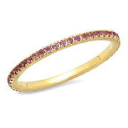 ERINESS - AMETHYST ETERNITY BAND