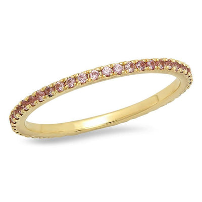 ERINESS - PINK SAPPHIRE ETERNITY BAND