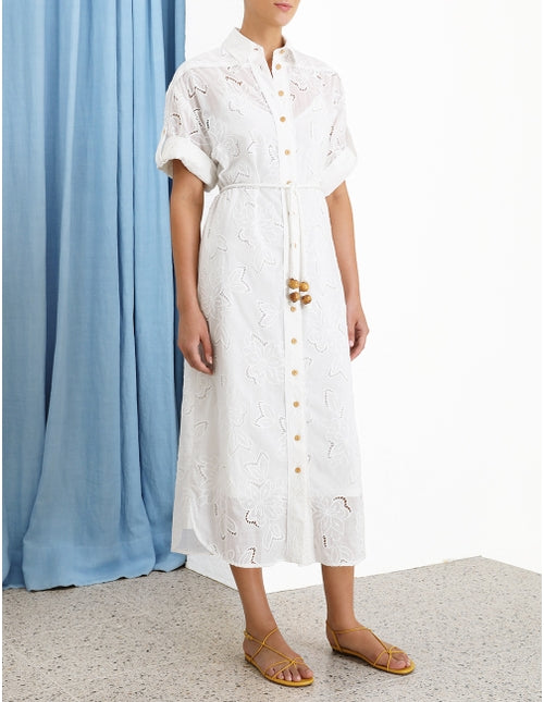 KIRRA EMBROIDERED SHIRT LONG DRESS