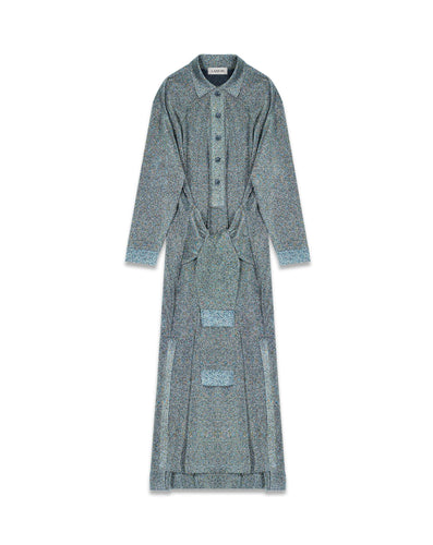 LANVIN - Tie Front Lurex Long Dress