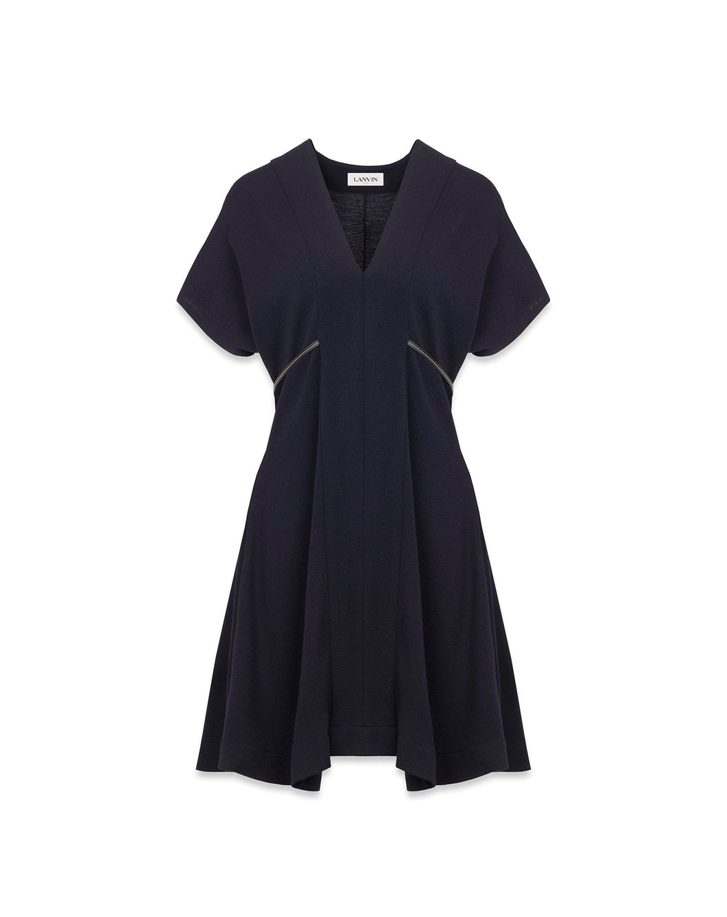 LANVIN - Navy Blue Jersey Dress