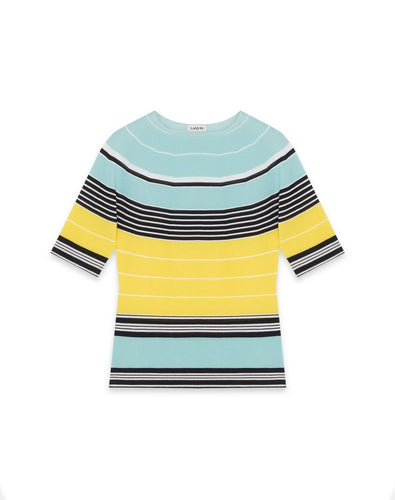 LANVIN - Striped Knit Shirt