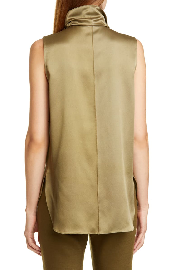 ADAM LIPPES - Draped Silk Charmeuse Top
