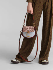 CHLOÉ - Tess Small Lizard Emboss Sepia Brown