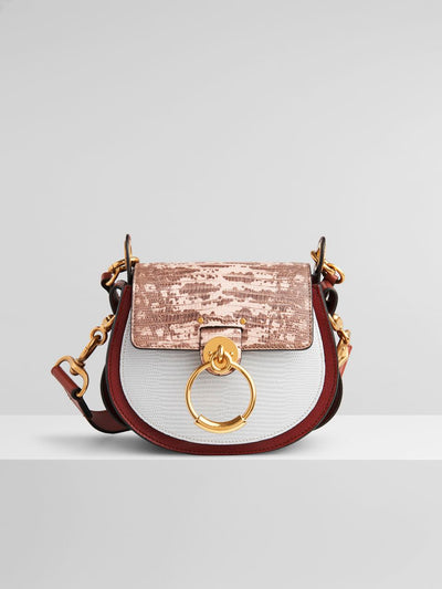 Tess Small Lizard Emboss Sepia Brown