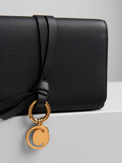 Alphabet Compact Wallet Black
